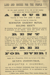 Advert for the Newington Causeway Mutual Building Society